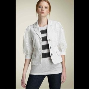 Marc Jacobs Day Lily White Eyelet Lace Jacket